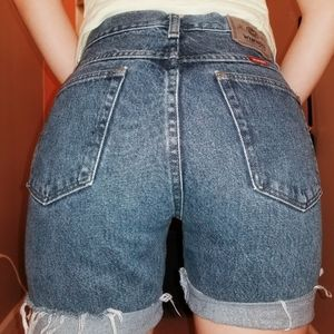 Wrangler high rise authentic jean shorts